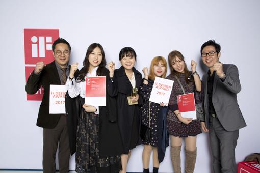 국내 대학 최초로 iF 디자인 어워드에서 골드를 수상한 주인공들이다.
