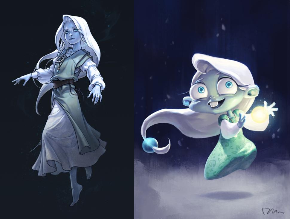 이미나 디자이너가 디자인 한 캐릭터의 pc / 모바일 게임 버전. 여러 가지 스타일의 컨셉 아트를 공부해 보고 싶어서 한 프로젝트 안에서 여러 가지의 스타일을 시도해 본 작업이다.